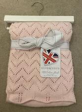 Pink Cotton Shawl Baby Blanket