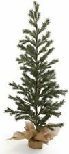 "ReLive Slender Christmas Tree with Burlap Base 48"" Blue Spruce"