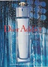 PUBLICITÉ PAPIER - ADVERTISING PAPER DIOR ADDICT