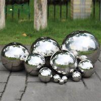 Gloss Glitter Stainless Steel Balls Sphere Mirror Hollow Home Garden Ornaments