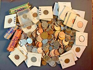 Large Estate lot of 20th Century Canadian Coins - Unsearched