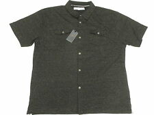 $60 NWT Mens Paper Denim & Cloth PD&C Striped Knit Button Down Shirt 1X 1XB M771