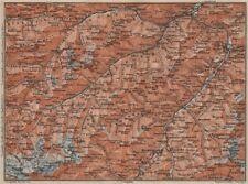 SAMNAUNGRUPPE VERWALLGRUPPE Paznauntal Oberinntal St Anton Ischgl 1911 old map