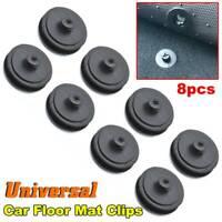 8pcs Universal Car Floor Mat Carpet Clips Screw Retainer Fixing Grips Clamps