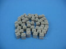 Lot 50 LEGO Old Lt Gray Standard Brick 1 x 1 stud Classic Castle Space #3005