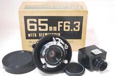 "[NEAR MINT] MAMIYA SEKOR 65mm F6.3 Lens w/65mm Finder ""BOXED"" for Super23,Press"