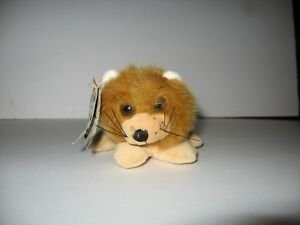 """The Beansters Giftco Boomba Beanster Mini Plush Lion Vintage 1996 4"""" *Flaw*"""