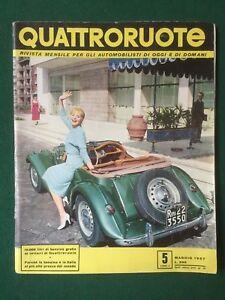 QUATTRORUOTE n.5 Maggio 1957 Rivista Magazine MG AUTO APERTE