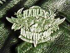 Harley Davidson Motorcycle Flaming Eagle Harley HD Pewter Biker Jacket pin 1017a