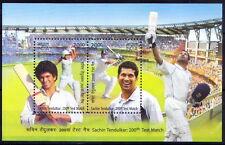 India MNH 2v SS, Sachin Tendulkar, Cricket, Sports -F8