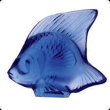 LALIQUE CRYSTAL FISH SAPPHIRE #3000300 BRAND NIB WATER FRENCH BLUE BARGAIN F/SH