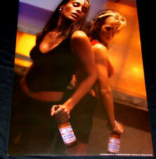 2 Super Hot & Sexy Babes Bud Light Beer Bottle Sunset Workout Pin Up Girl Poster