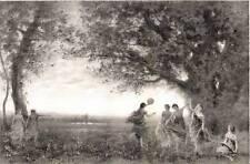 COROT - Lithographie : DANSE ANTIQUE ; 1875, Pirodon