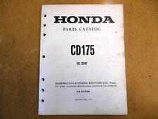 Honda Factory Parts Catalog Manual 73 CD175 CD 175