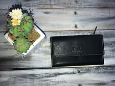 Fossil Multi Leather Tab Bifold Clutch Wallet Brown