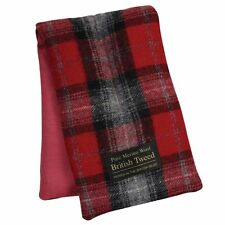 Aroma Home Calmante De Lujo Rojo a Cuadros Tweed Lana Merino reconfortante Body Wrap