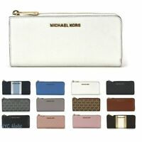 New Michael Kors Jet Set Large Three Quarter Zip Wallet