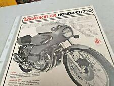 1975 RICKMAN CR HONDA CB750  Motorcycle  Original Sales Leaflet VERY RARE