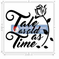 Vinyl Sticker for DIY Box Frame - Tale as old as Time - Beauty and the Beast