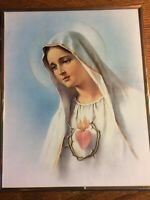 Immaculate Sacred Heart of Mother Mary CATHOLIC Religious Framed Print 8 X 10