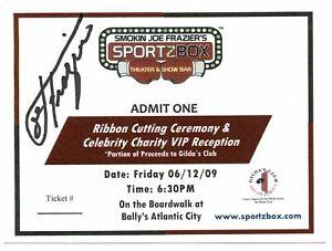 Joe Frazier - Sportzbox Theater & Show Bar signed autographed ticket! AMCo 12310