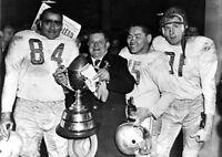 CFL 1956 Grey Cup Edmonton Eskimos Bright Kwong & Parker 8 X 10 Photo Pic