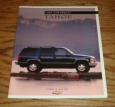 Original 1999 Chevrolet Truck Tahoe Sales Brochure 99 Chevy 1/98