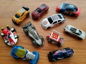 Vintage Toy Cars 1997-2014 McDonalds Burger King Lot of 10