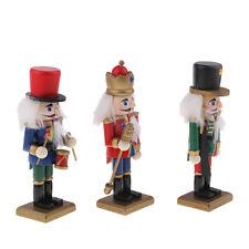 3x Schiaccianoci Legno Modello Soldato Cultura Tedesca-Multicolore
