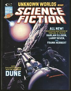 Unknown Worlds of Science Fiction # 3 Ellison story, Frank Herbert VF Cond.
