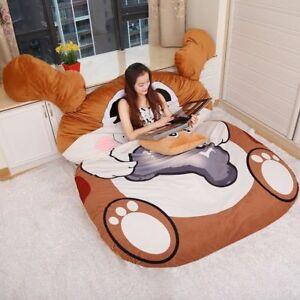 New Cute Big Dog Mascot Sofa Bean Tatami Mattress Sleeping Bag Cartoon Bed Decor