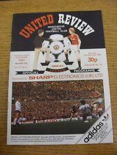 27/11/1982 Manchester United v Norwich City  (Token Removed, Light Mark On Back)