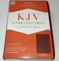 KJV Bible LARGE SUPER GIANT PRINT Burgundy Imitation Leather, King James Version