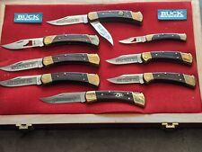 Vintage Buck Knives Display Case Folding Knives last production run El cajon Cal
