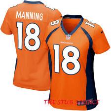 Nike Denver Broncos #18 Peyton Manning On Field Limited Women's Jersey MED $130