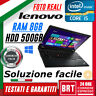 "PC NOTEBOOK LENOVO THINKPAD L440 14"" CPU i5 8GB RAM 500GB HDD +LICENZA WIN 10!!"