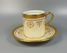 AYNSLEY GOLD DOWERY 7892 COFFEE CAN AND SAUCER