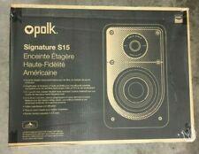 Polk Audio Signature Series S15 Small Bookshelf Speakers pair USED GOOD👌