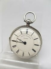 Antique solid silver fusee Campbell & co Belfast pocket watch 1880 ref1215 ticks