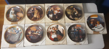 Lot of 9 Edwin M Knowles Norman Rockwell Collector Plates Booklets Coas Euc