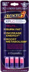 Stacker 3 XPLC Diet and Energy Supplements, 4-ct. Pack