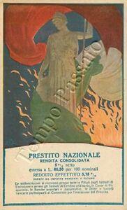 Prima guerra mondiale - Prestito nazionale (Italia) / illustratore Terzi