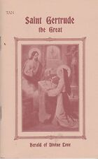 CATHOLIC BOOKLET   SAINT GERTRUDE THE GREAT   HERALD OF DIVINE LOVE   BY TAN