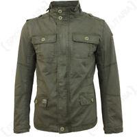 Brandit Britannia Chaqueta - Verde Oliva - Abrigo Verde Militar Capucha Top