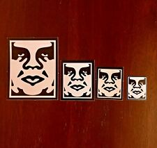 OBEY Giant ICON size variant 4x sticker lot Shepard Fairey Street Art Graffiti