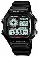 Casio Ae1200wh-1av Men Sport Digital Watch World Time 5 Alarms LED Light 100m WR
