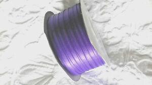 5 metres of 3mm Purple satin ribbon