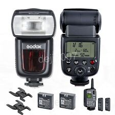 2x Godox VING V850 Li-ion Flash Wireless Speedlite W/ FT-16S Flash Trigger KIT