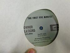"1969 CHEVROLET DEALERSHIP ""THE FIRST FIVE MINUTES"" DEALER PROMO RECORD ALBUM"