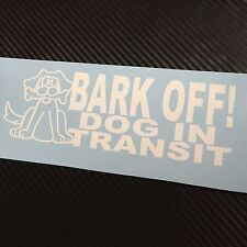 WHITE BARK OFF Dog In Transit Car Sticker Decal Puppy Walker Pet Guide Dogs K9